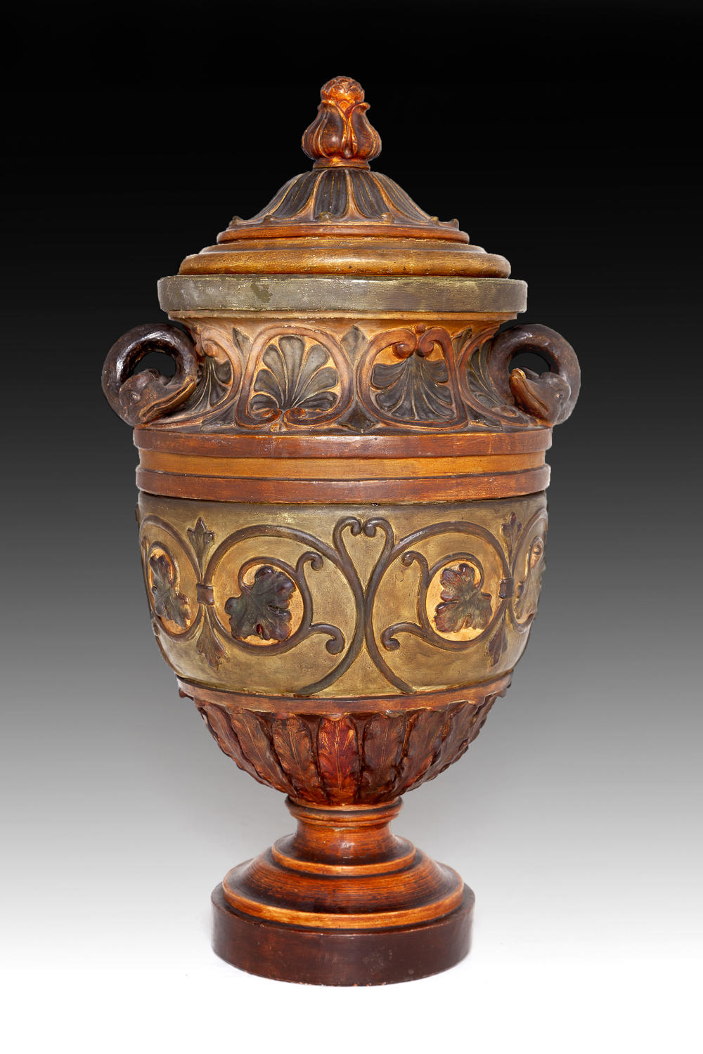 An large Italian 19th century terracotta vase
