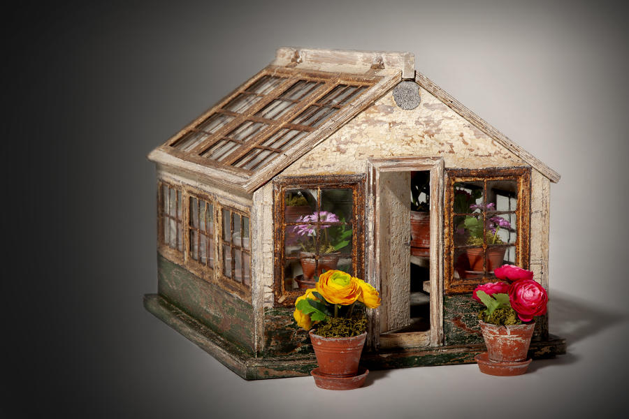 A rare 19th century model of a potting house
