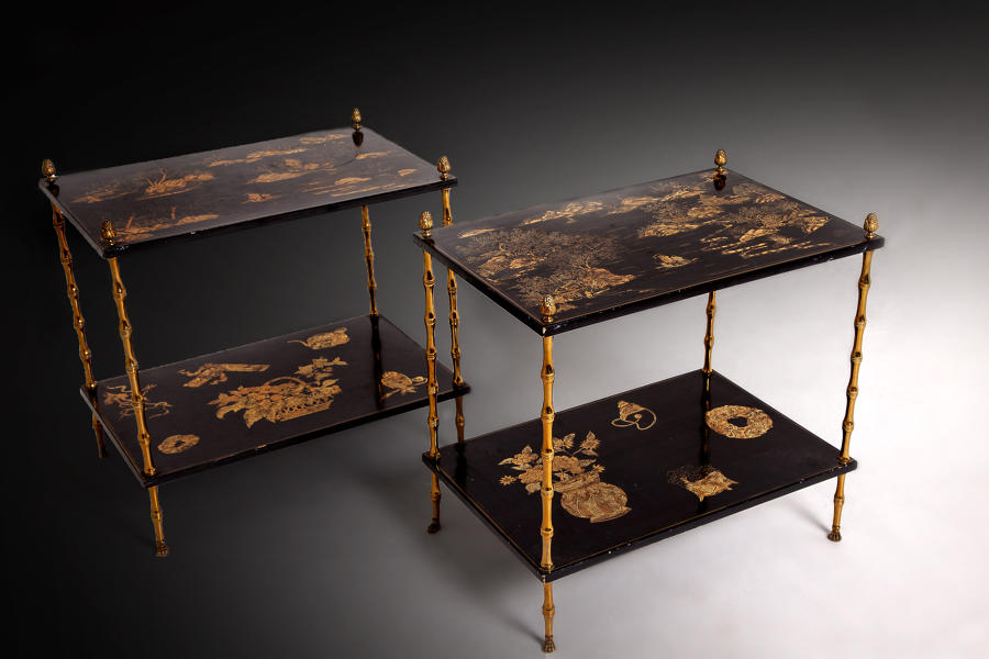 Maison Bagues lacquer side tables
