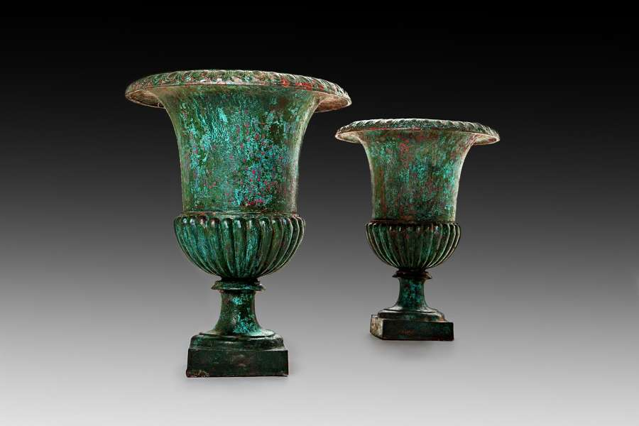 A pr of large 19th century classical urns