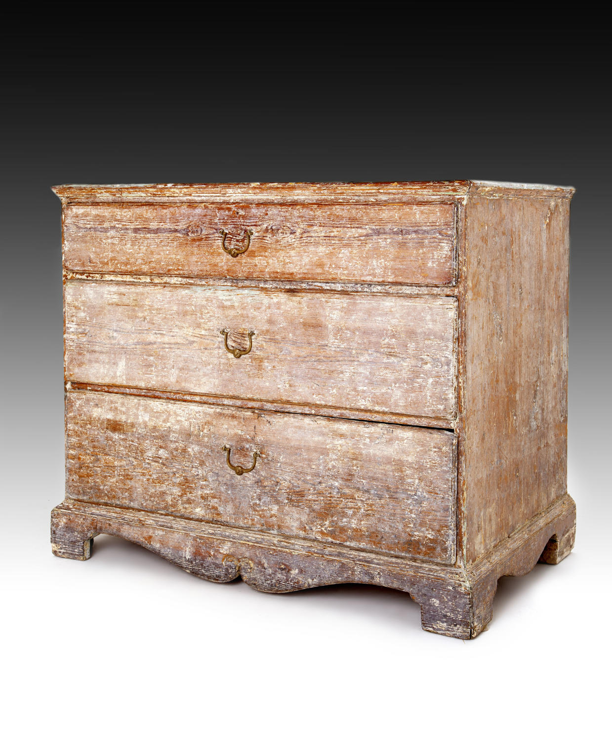 A late 18th century Swedish chest of drawers