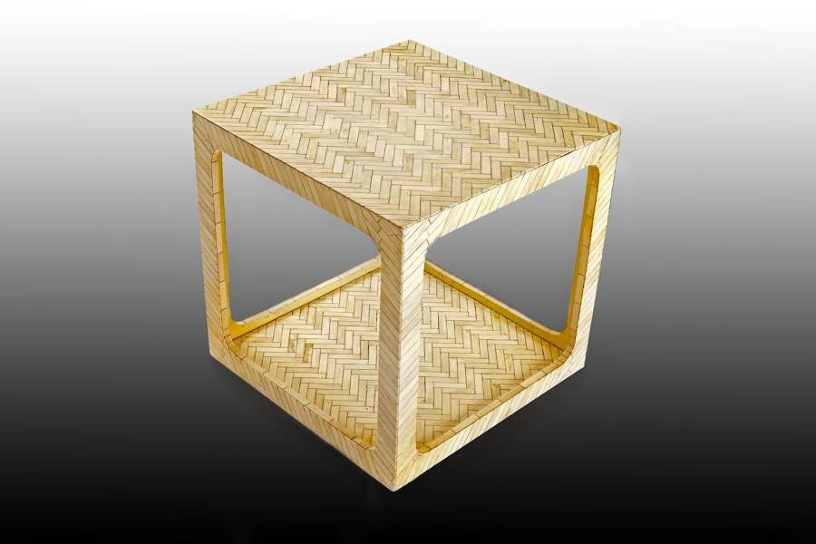 A mid 20th century ivorine coffee table