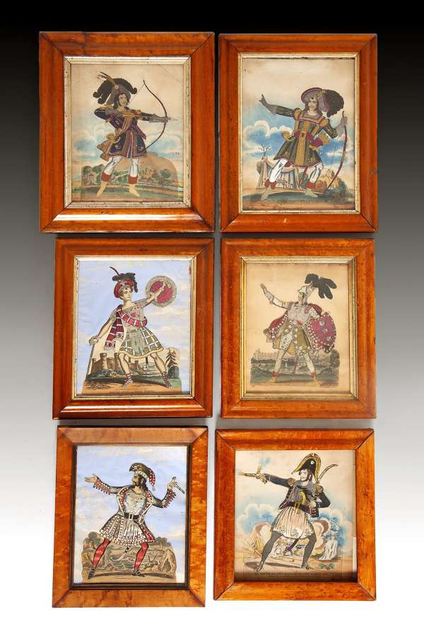 A set of twelve 19th century Tinsel pictures