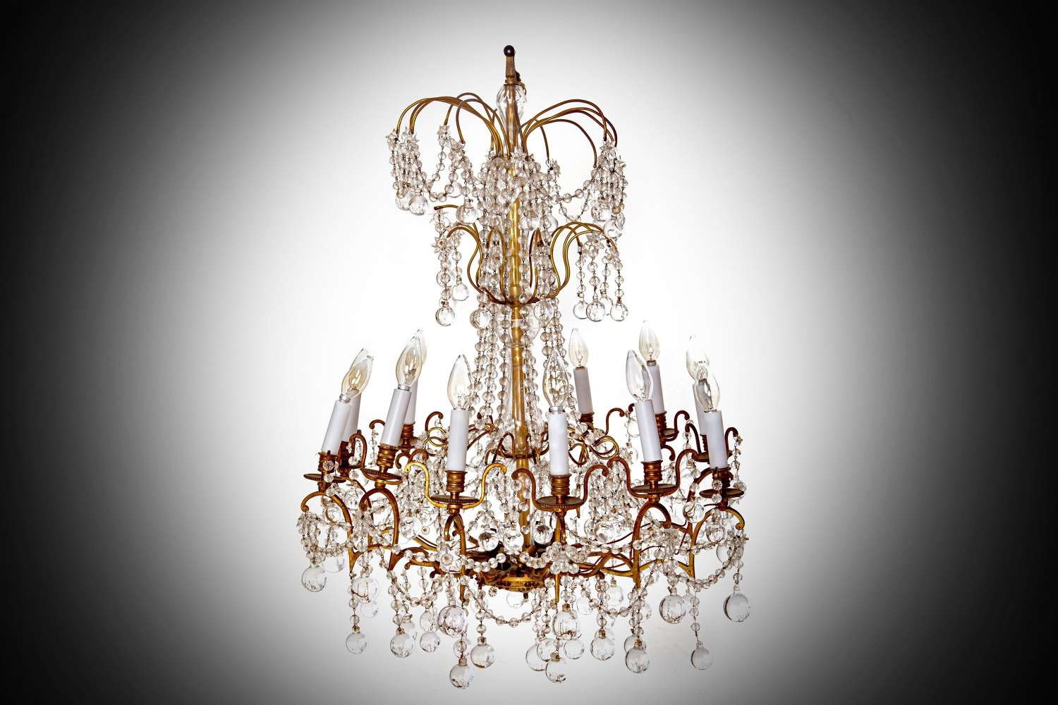 An early 19th century glass chandelier